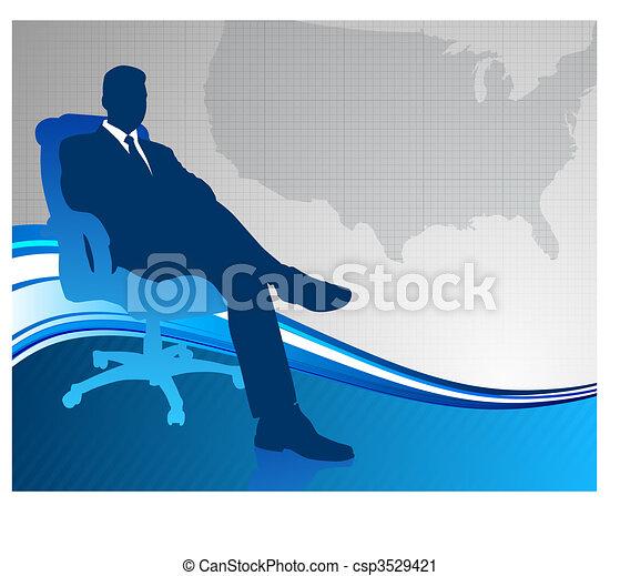 mappa, ci, esecutivo, fondo, affari - csp3529421