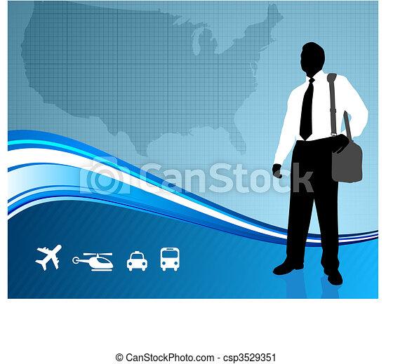 mappa, ci, viaggiatore, backgroundtraveler, affari - csp3529351