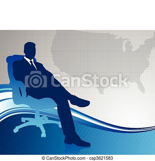mappa, esecutivo, fondo, ci, affari - csp3621583