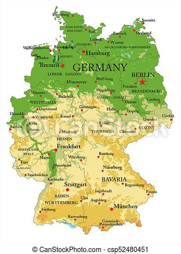 Cartina Geografica Europa Da Stampare.Cartina Germania Fisica Muta