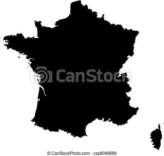mappa, francia - csp8049689