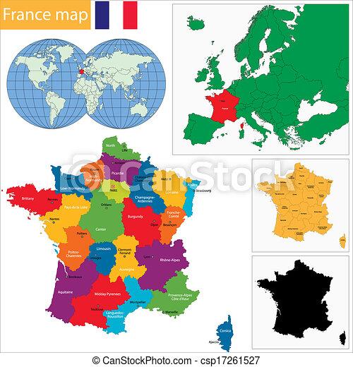 mappa, francia - csp17261527