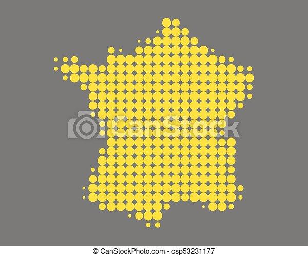 mappa, francia - csp53231177