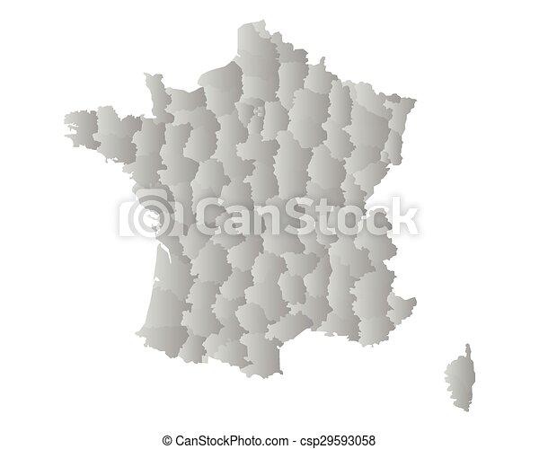 mappa, francia - csp29593058