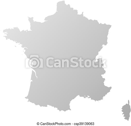 mappa, -, francia - csp39139063
