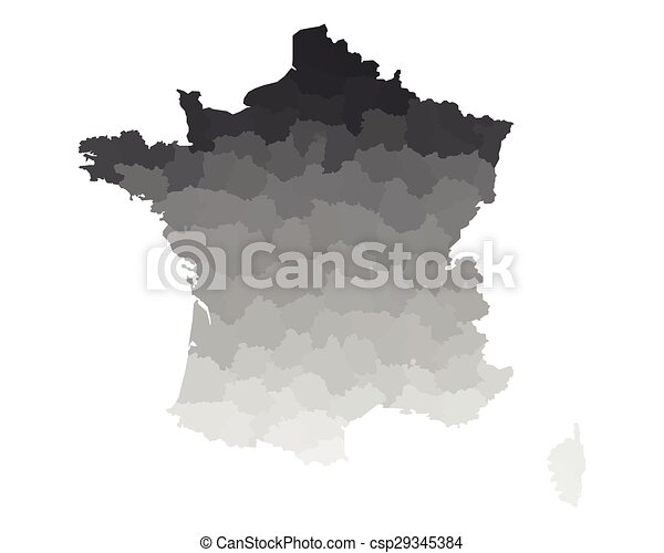 mappa, francia - csp29345384