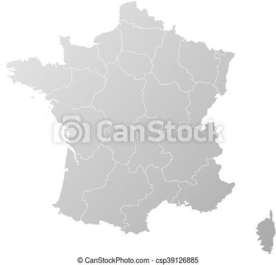 mappa, -, francia - csp39126885