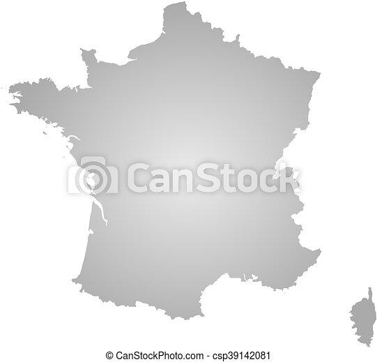mappa, -, francia - csp39142081