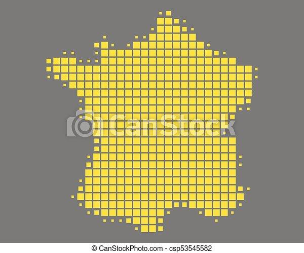 mappa, francia - csp53545582