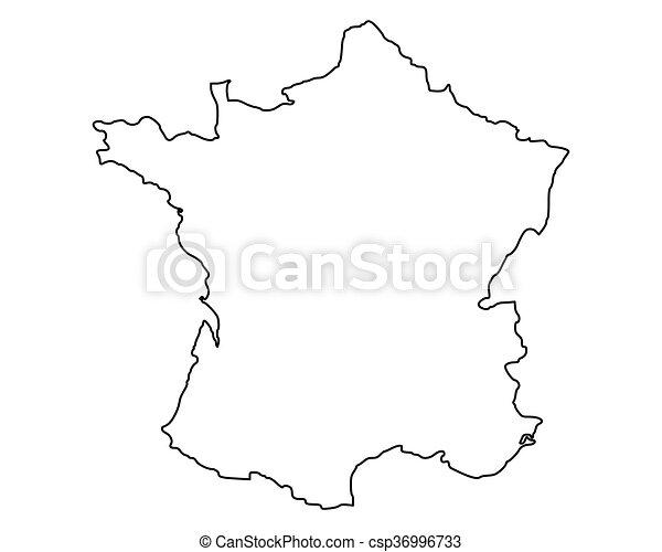 mappa, francia - csp36996733