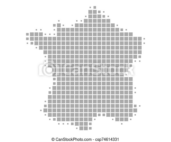 mappa, francia - csp74614331