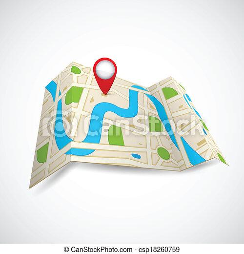 mappa, gps, strada, domanda - csp18260759