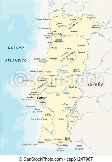 Cartina Del Portogallo Muta.Portogallo Cartina Muta