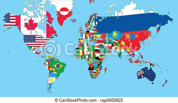 mappa mondo - csp5932622
