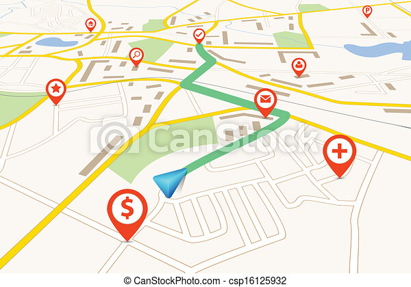 mappa, navigazione - csp16125932