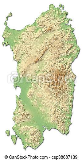 Cartina Antica Sardegna.Mappa Sardegna Sollievo 3d Rendering Italy Provincia Mappa Italia Sardegna Relief Sollievo Ombreggiato Canstock