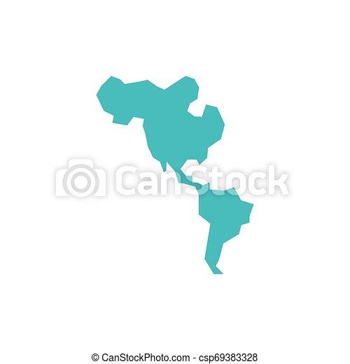mappe, americano, silhouette, continente - csp69383328