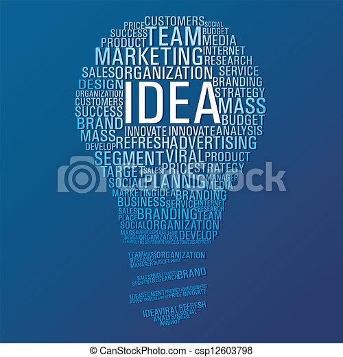marketing, idea, comunicazione - csp12603798