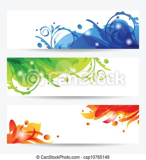 mascherine, cornici, set, fiore, opuscolo - csp10765149