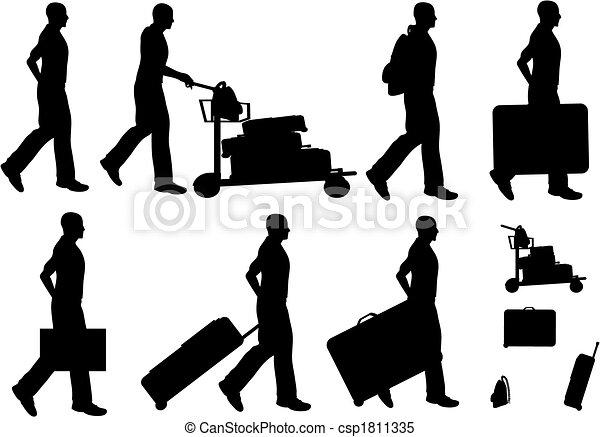 maschio, viaggiatori - csp1811335