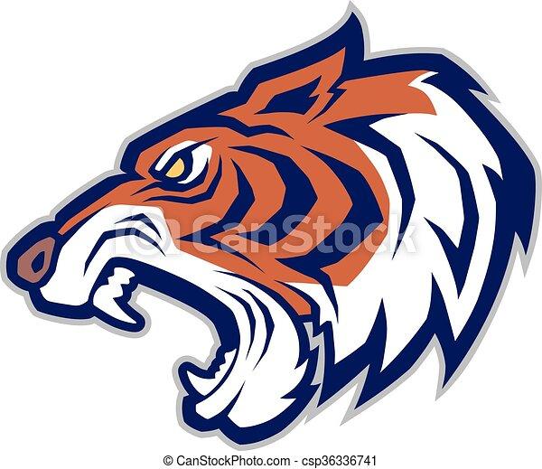 mascotte, testa tigre - csp36336741