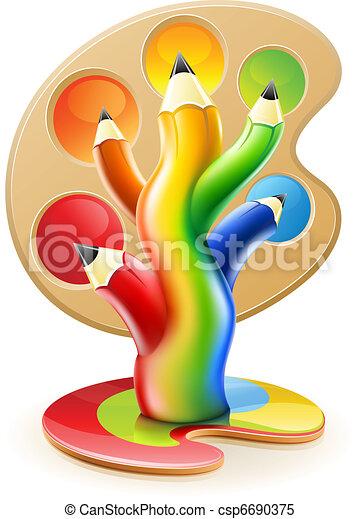 matite, concetto, arte, colore, albero, creativo - csp6690375