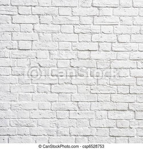 mattone, parete bianca - csp6528753