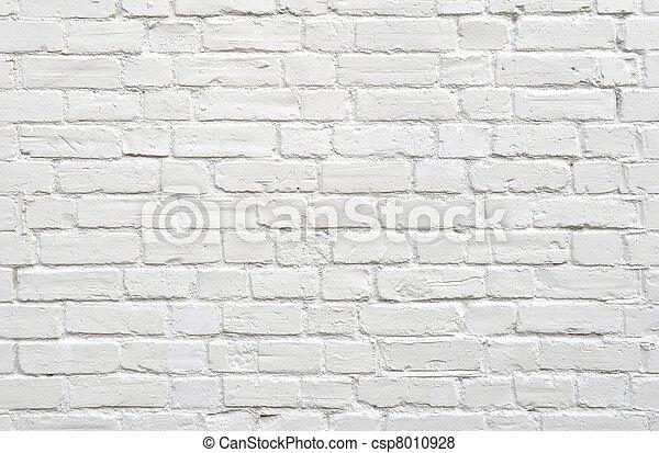 mattone, parete bianca - csp8010928