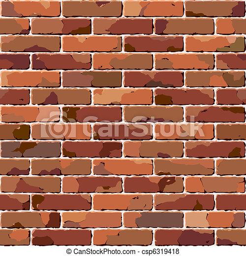 mattone, wall., vecchio, seamless, texture. - csp6319418