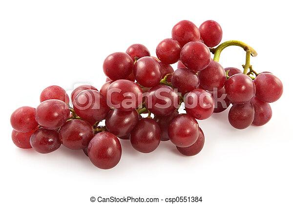 maturo, succoso, grande, uva, bacche, rosso - csp0551384