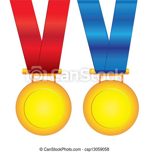 medaglie, vettore - csp13059058