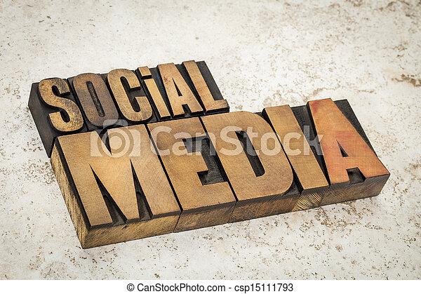 media, tipo, legno, testo, sociale - csp15111793