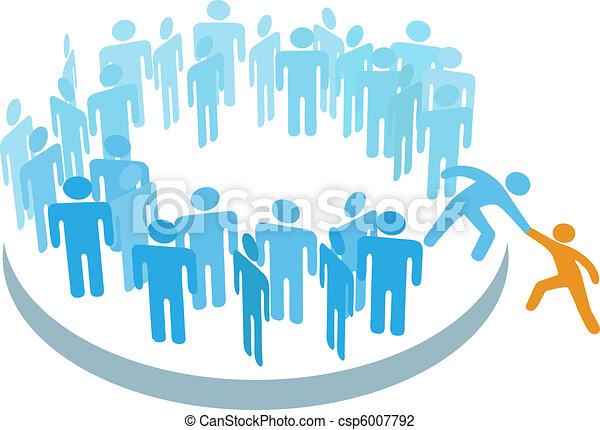 membro, gruppo, aiuto, persone, grande, nuovo, unire - csp6007792