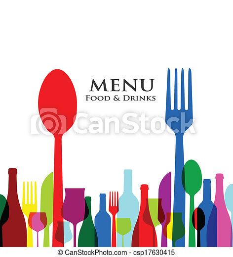 menu, progetta, coperchio, retro, ristorante - csp17630415