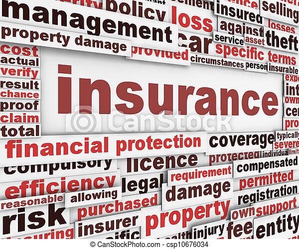 messaggio, concetto, assicurazione - csp10676034