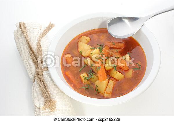minestra, bianco, patata, ciotola - csp2162229