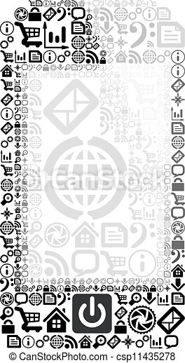 mobile, domanda, fatto, telefono, icone - csp11435278