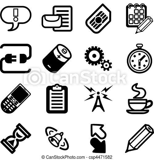 mobile, gui, domande, serie, telefono, set, icona - csp4471582
