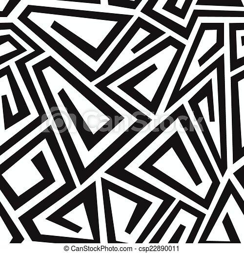modello, curva, seamless, labirinto, monocromatico - csp22890011