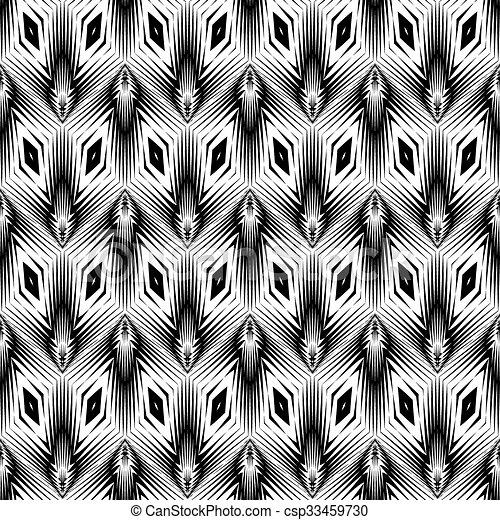 modello geometrico, monocromatico, disegno, seamless - csp33459730