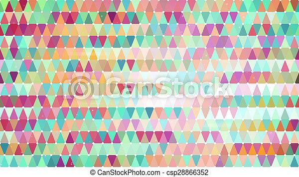 modello, multicolor, astratto, triangoli, geometrico - csp28866352