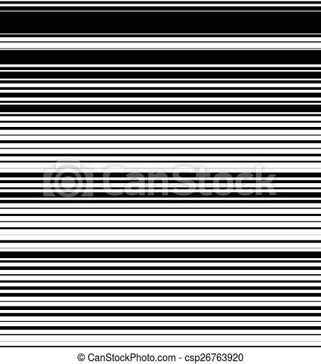 modello orizzontale, repeatable, thickness., casuale, (seamlessly, nero, linee, diritto, horizontally.), wh, fondo., bianco - csp26763920