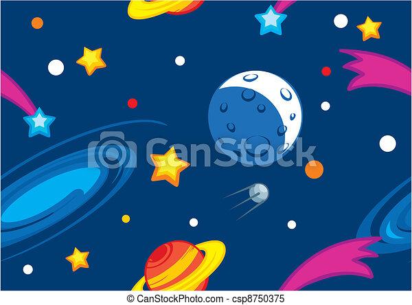 modello, pianeti, stelle - csp8750375