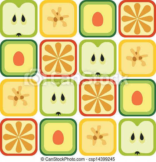 modello, seamless, frutte - csp14399245