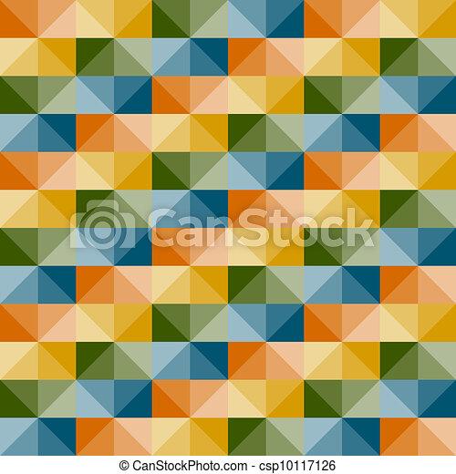 modello, seamless, vettore, geometrico, illusione, 3d - csp10117126