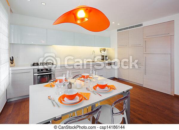 moderno, casa - csp14186144
