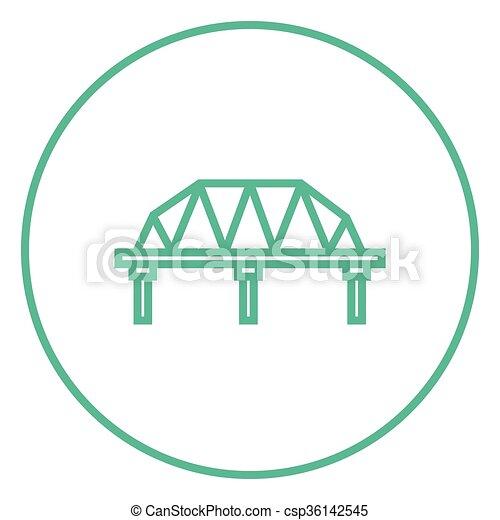 modo, rotaia, icon., linea, ponte - csp36142545