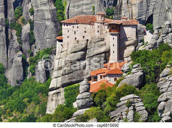 monastero, meteora, grecia - csp6815692