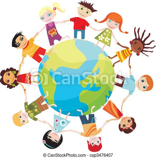 mondo, bambini - csp3476407