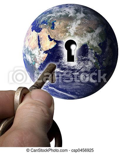 mondo, chiave - csp0456925
